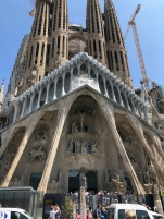 La Sagrada Familia! Will be venturing inside on Monday! Can't wait