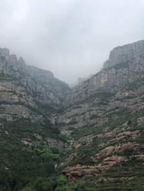 At the base of the Cable Car leading to Montserrat (just visible)