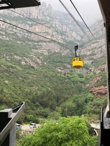 The cable car to Montserrat