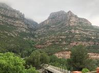 A view back into Montserrat after the descent