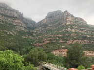 A view back into Montserrat after the descent