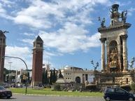 Plaza España and the Venetian inspired Columns
