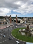 """A view from """"Las Arenas de Barcelona"""", the old bullfighting ring now turned Shopping Centre"""
