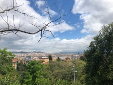 The view of Barcelona on the climb to Montjuic