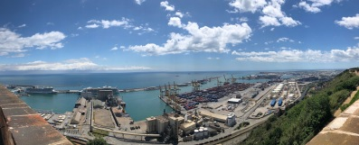 The Panoramic view of the Port of Barcelona