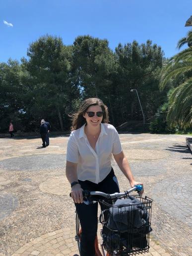 Happy I haven't yet fallen off the bike...