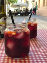 Sangria! Even the hipster mason jars have reached Spain!