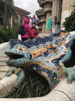 The dragon of Park Güell is the symbol of the town Barcelona