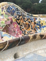 The use of mosaic saved time and money when creating curved structures. Plus it's beautiful!