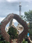 The stone centre of the Entrance to Park Güell
