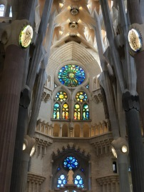 Looking up to the altar of La Sagrada