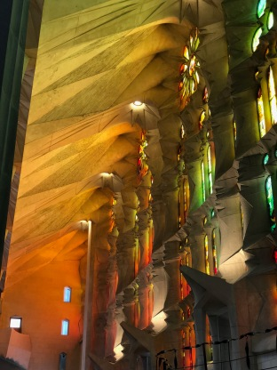The light fills the church with ridiculous amounts of colour, unseen from the outside