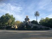 Early morning run through the Ciutadella Park