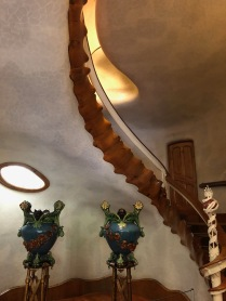 Staircase resembling the vertebrae of a giant sea-faring creature
