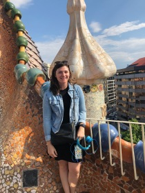 Atop the Casa Batllò