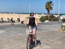 Aboard the bike