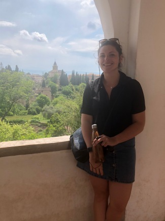 Happy with the views in Granada!