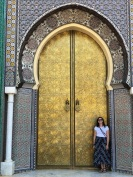 Out the front of the King's Palace, Fes