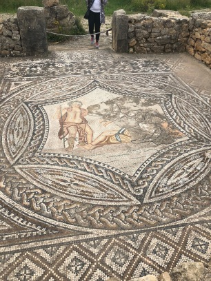 Crafty floors at Volubilis showing the God Odysseus