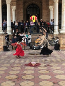 Flamenco show at Plaza España