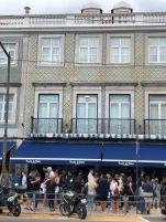 The queue for the Pastéis de Belém (Pasteles de Nata)