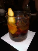 Gold Old Fashioned in a tiny hole-in-the-wall Gin bar