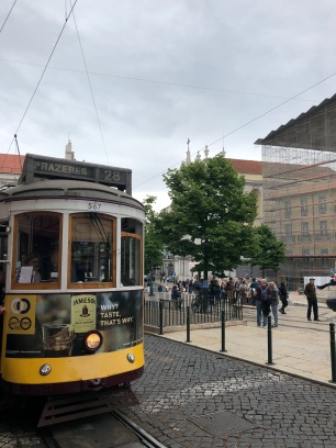 The 28 Tram (packed FULL of tourists)