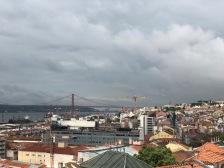 The view over Lisbon from the Mirador de Santa Catalina
