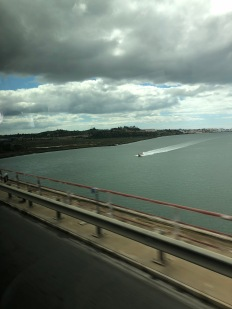 Crossing the boarder/river between Spain and Portugal