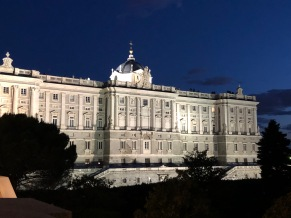 The Royal Palace after sundown