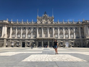 Outside the Royal Palace of Madrid