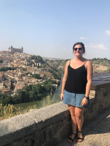 At the top of the climb of the train ride around Toledo