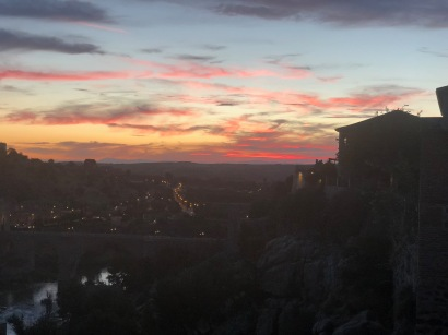 Sunset views from the residence