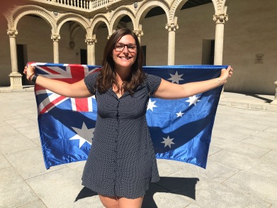 Me with my Aussie Flag
