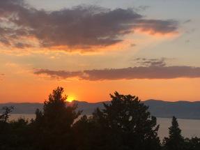 The stunning sunset