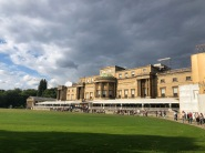 The back of Buckingham Palace and grounds
