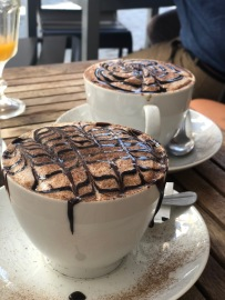 Looks can be deceiving. What looks like a delicious hot chocolate is in fact one of the worst Capuccinos I have had in my life!