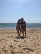 Em and I on the beach