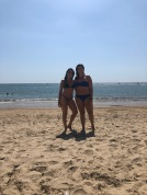 Em and I on the beach